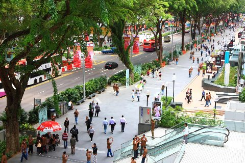 Singapore's Orchard Road, shopping street