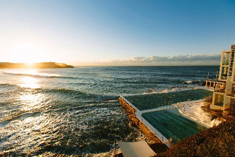 Bondi Icebergs pool at sunrise