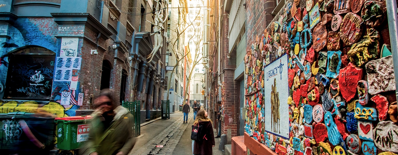Drewery Lane in Melbourne street art
