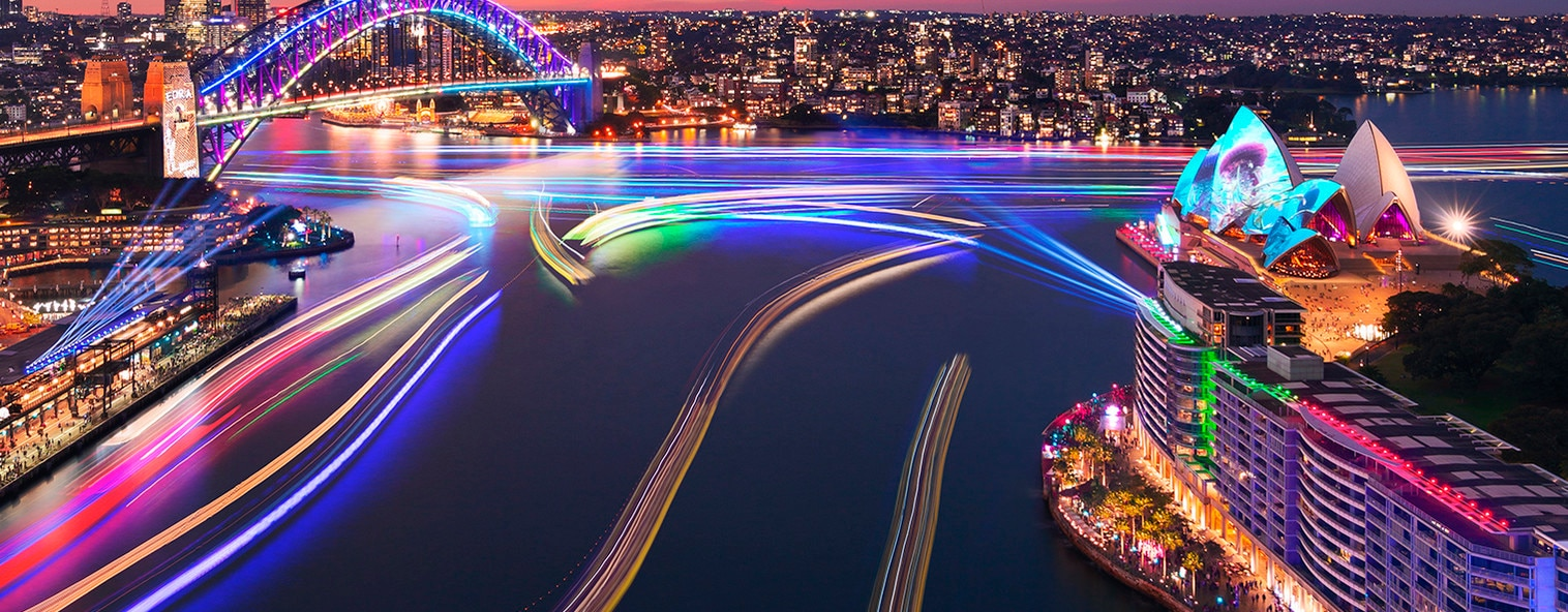 Vivid Sydney at the Sydney Harbour