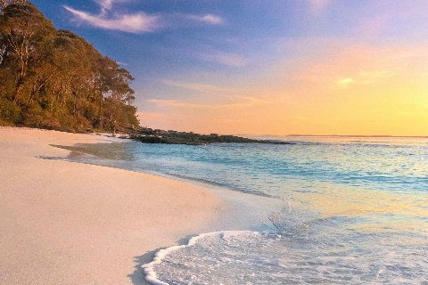 Jervis Bay Hyams Beach at sunset
