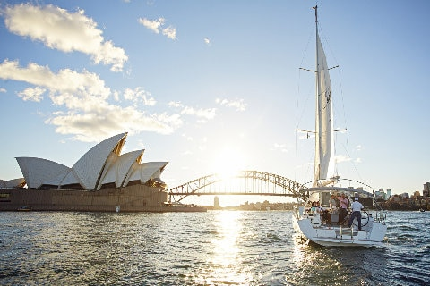 Sail boat on Sydney Harbour
