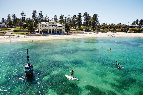 Aerial view Cottesloe beach in Perth