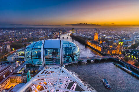 London Eye and city skyline