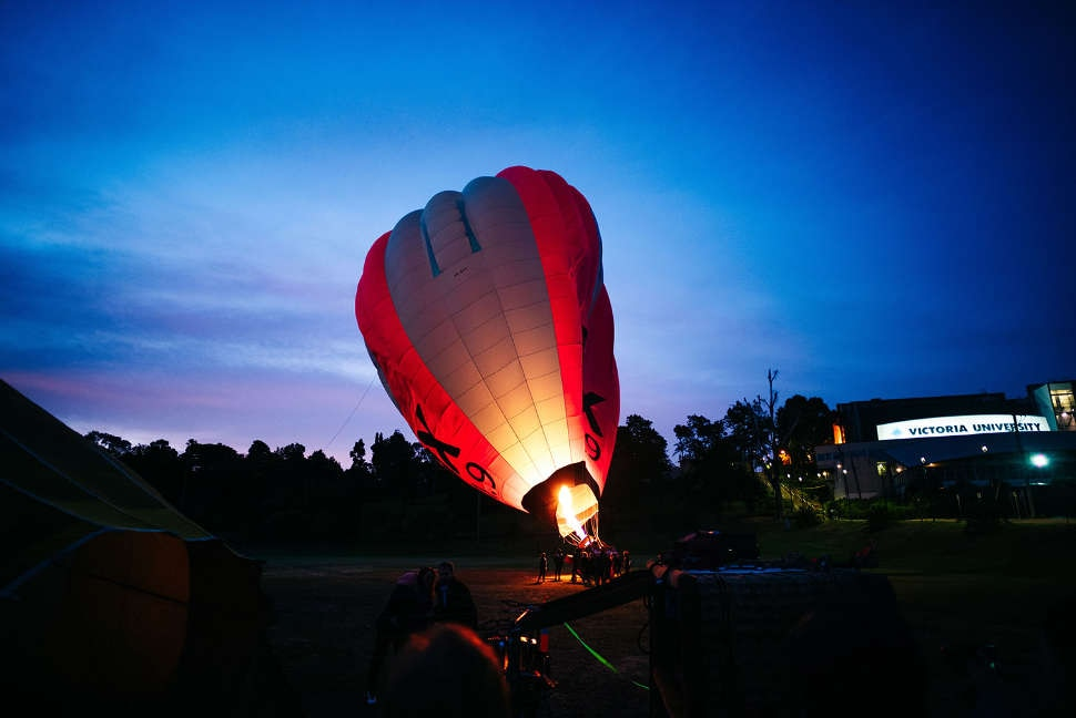 Hot air balloon in Melbourne