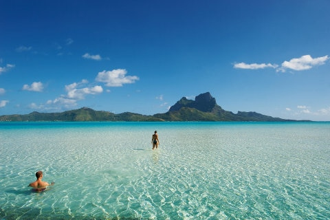 Crystal water of Bora Bora