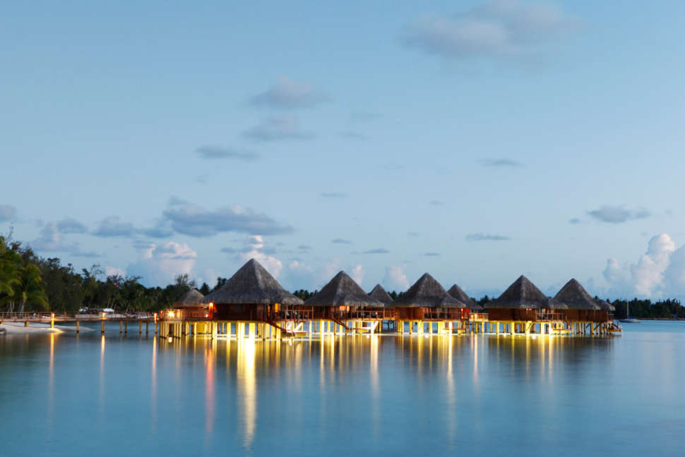 Ocean Resort over-water bungalows in Tahiti
