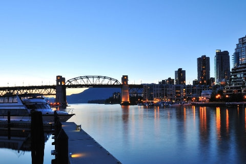 Granville island at night