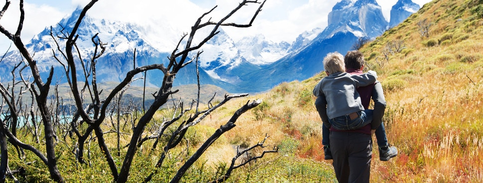 wilderness walk with dad in patagonia chile