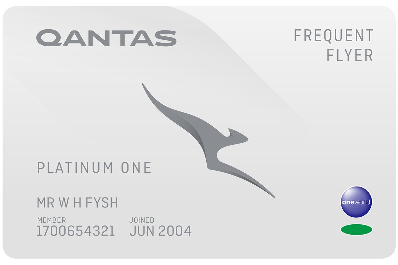 Qantas Frequent Flyer Platinum One card
