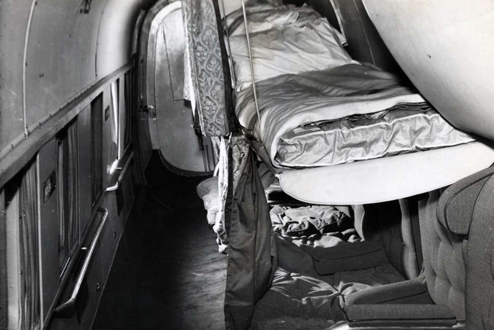 Qantas Lancastrian sleeping arrangements