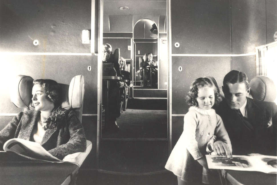 Spacious cabins on board Qantas flying boats 1938
