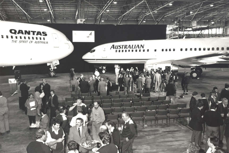Qantas and Australian Airlines merged September 1992