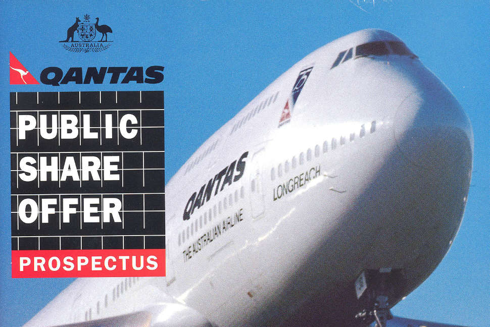 Qantas after a Public Share Offer Qantas shares listed in July 1995