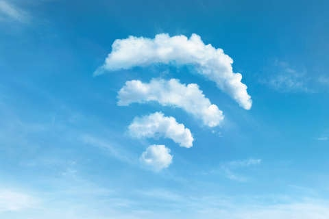 Wifi symbol in the sky