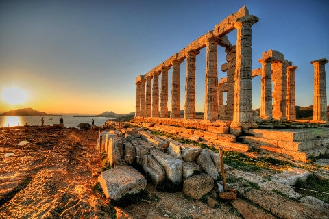 Cape Sounion and the Temple of Poseidon, Greece