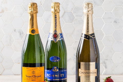 Selection of champagne and sparkling