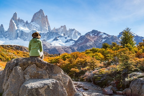 Andes mountain range in Argentina