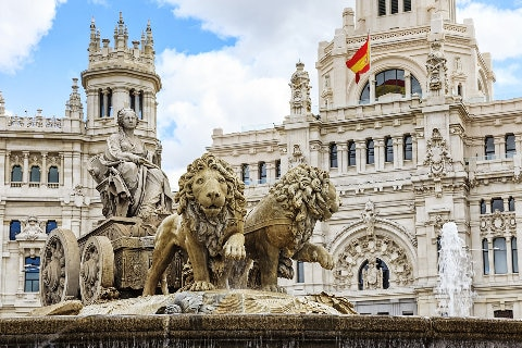 Cibeles Square statue, Madrid, Spain