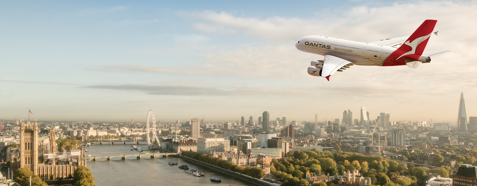 A380 over London