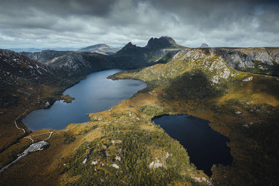 Dove Lake and Crater Lake, Cradle Mountain.