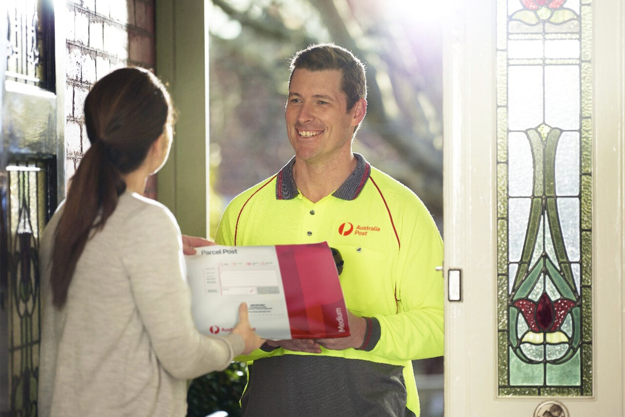 Australia Post deliver parcel to customer