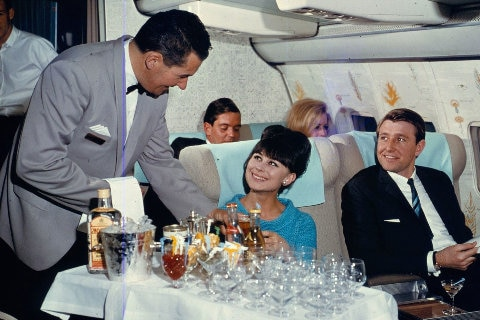 100 Birthday inflight menu