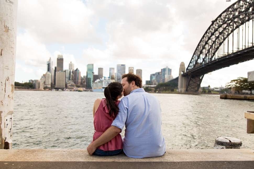 Travelshoot couple in Sydney