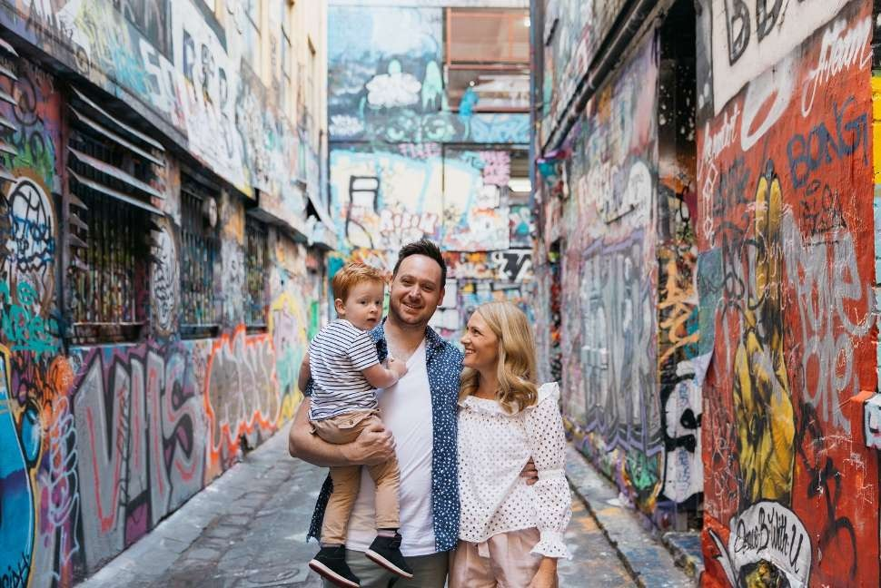 Travelshoot family in Melbourne